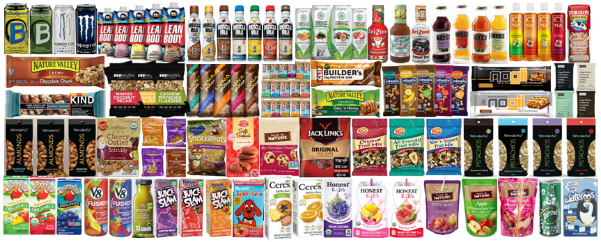 Popular Energy, Sparkling and Vitamin Drinks Nuts, Jerkies and Oat Snacks