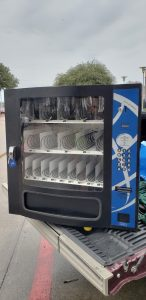Seaga HF3000, vending machine that stores snacks and candies. Small and compact vending machine.